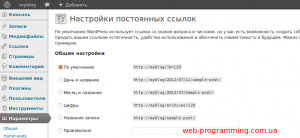 Настройка вида ЧПУ в WordPress